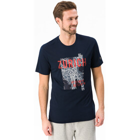 super.natural Graphic T-Shirt Homme, navy blazer 3d/zurich print
